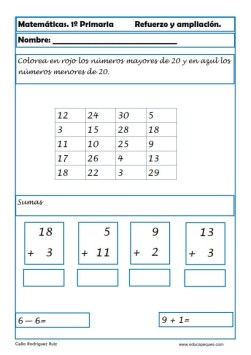 matemáticas primero primaria 14