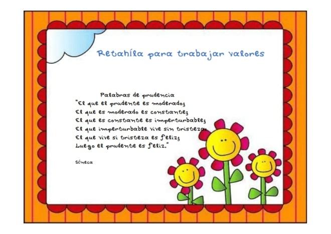 Fichas-Retahíla para trabajar valores 001