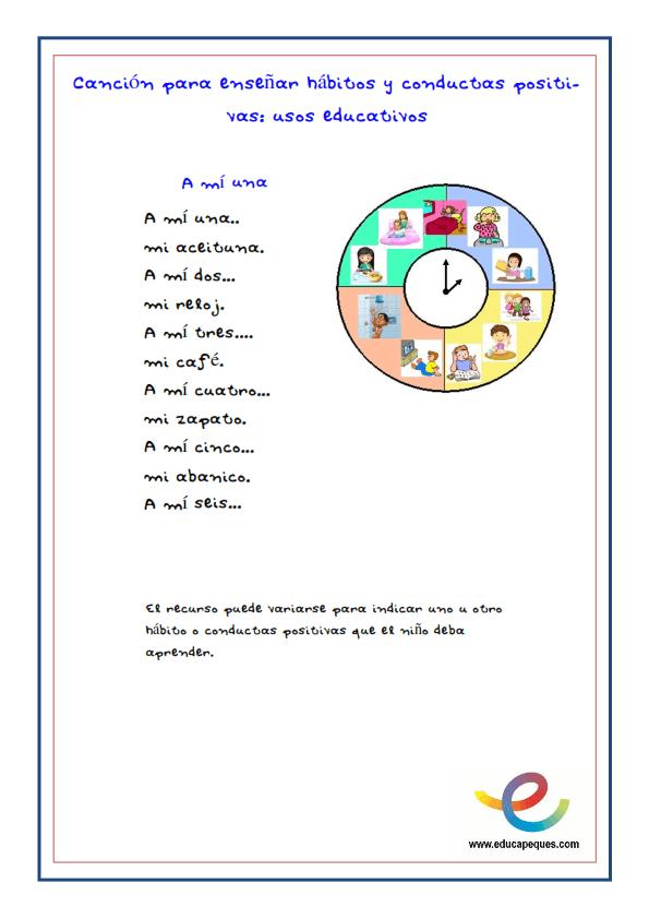 Fichas cancion infantil recurso educativo _001