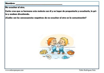 fichas para niños comunicación 09