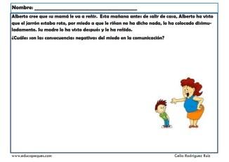 fichas para niños comunicación 10