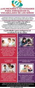 Infografía educativa. Enriquecer el vocabulario