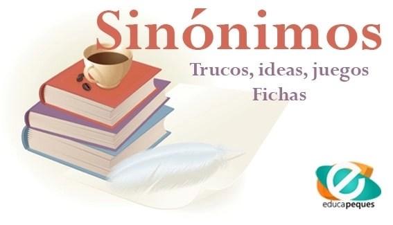como enseñar los sinonimos