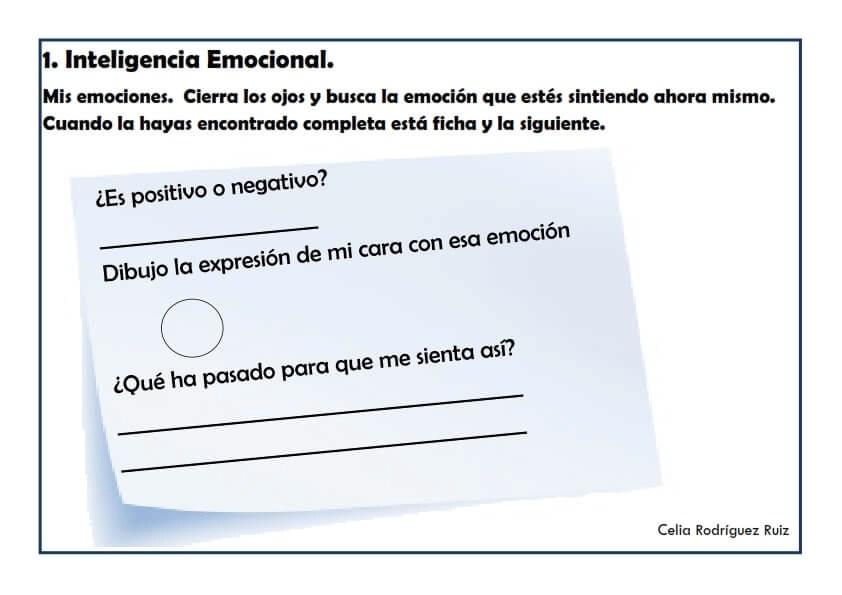 Fichas desarrollo emocional 01
