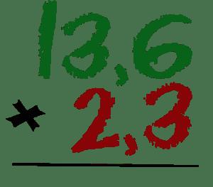 Multiplicar números decimales