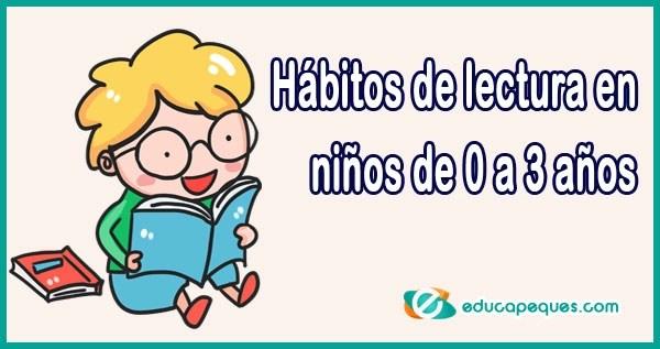 hábitos lectura 0-3 años