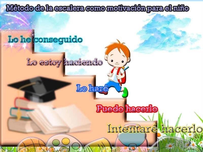 Método de la escalera como motivación para el niño