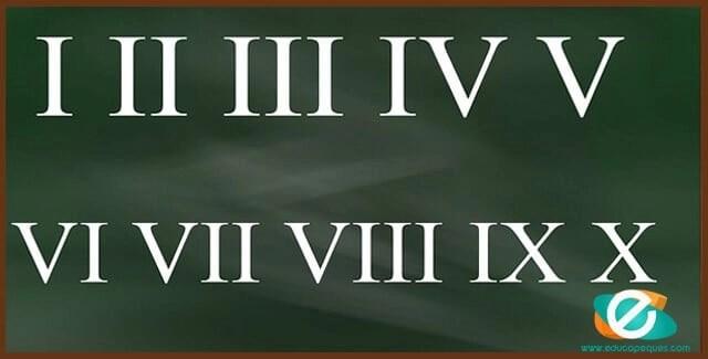 aprender números romanos