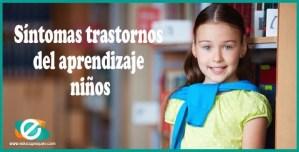 trastornos de aprendizaje