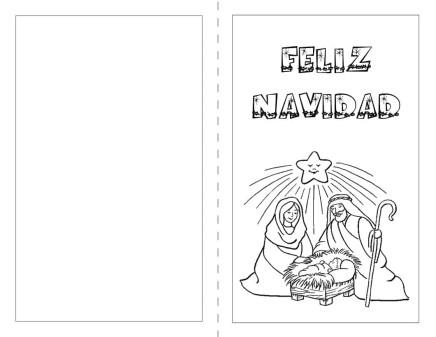 postales de navidad para pintar