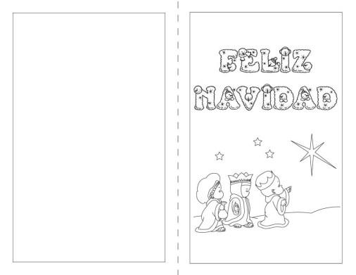 imagenes navideñas para imprimir y colorear