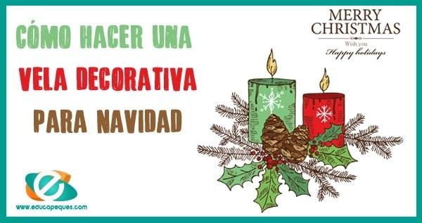 vela decorativa navidad
