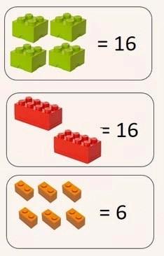 multiplicar con lego