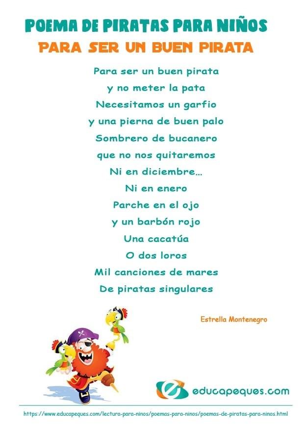 poesia de piratas, poema de piratas