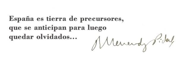citas Ramón Menendez Pidal