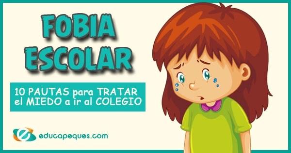 Fobia escolar, miedo a ir al colegio