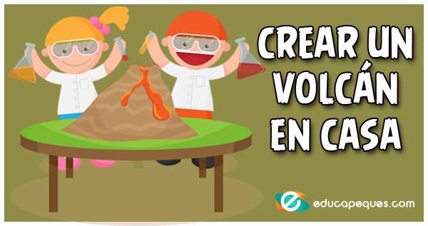 crear un volcán