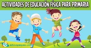 Fichas con actividades de educación física para primaria