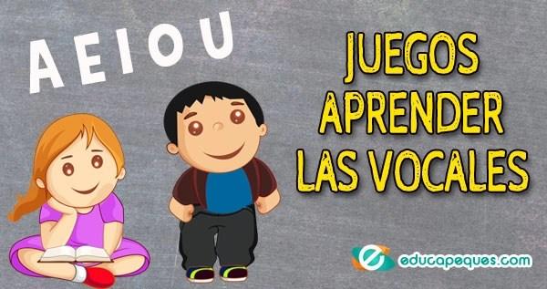 enseñar las vocales, aprender las vocales