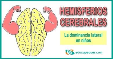 Hemisferios Cerebrales y la dominancia lateral en niños