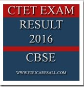 CTET Exam result 2016 by CBSE