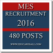 MES Recruitment 2016 Military Engineer Services 480 posts