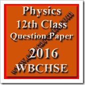 Physics 12th Class Question Paper 2016
