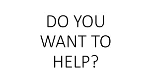 Do you want to help?