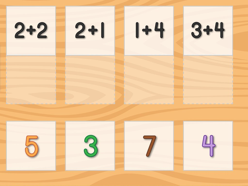 Single Digit Addition Matching Game