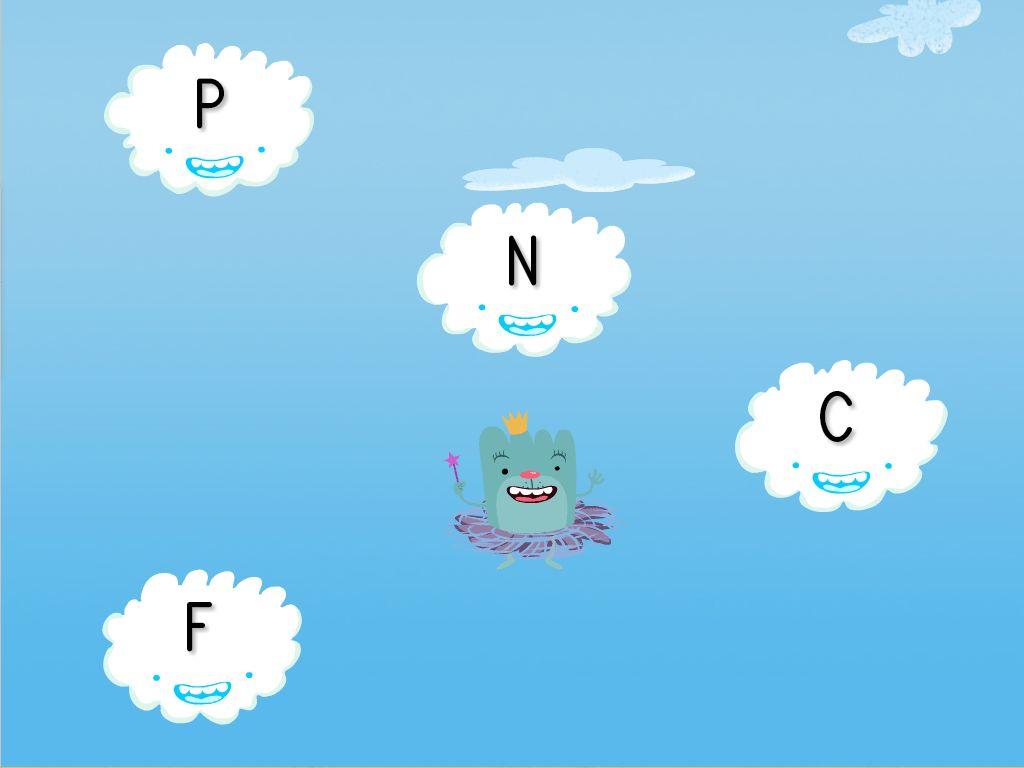 Cloud Catching Alphabet Game