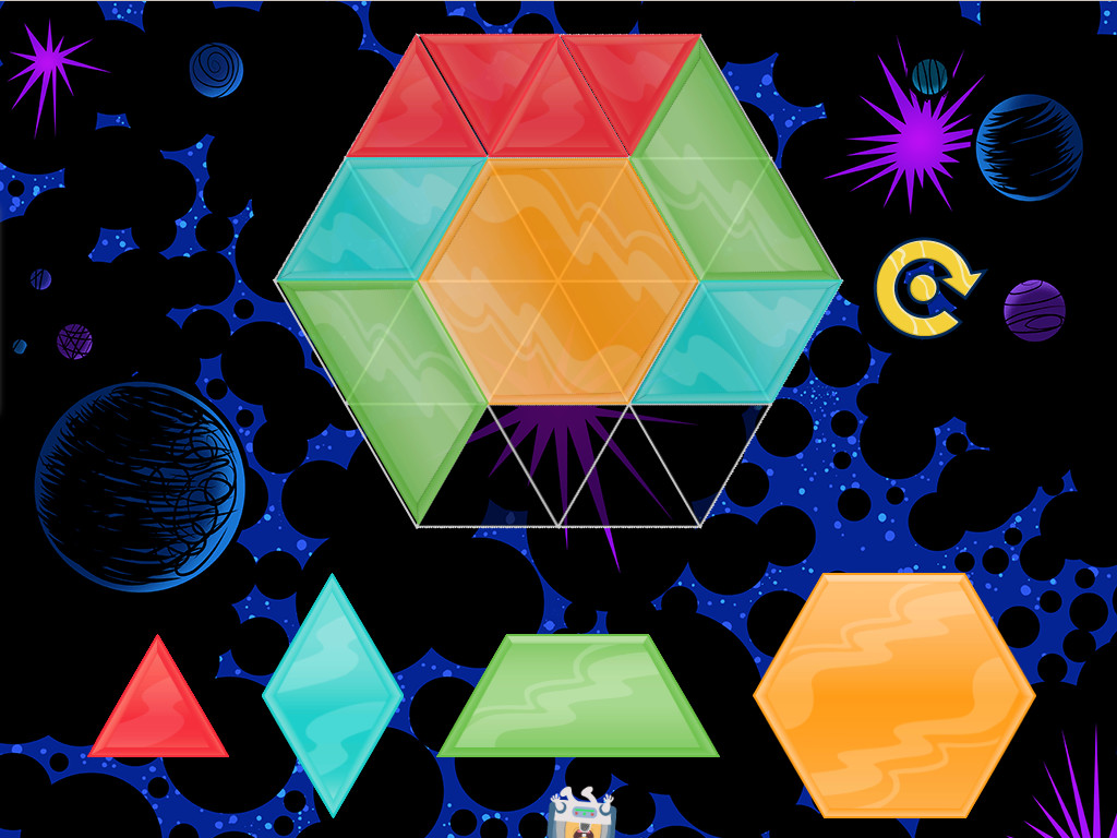 Create Mosaics With Shapes Game