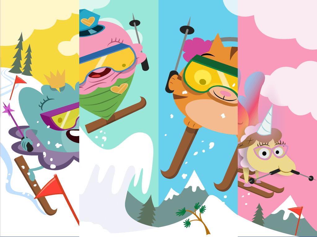 Irregular Plural Nouns Ski Race