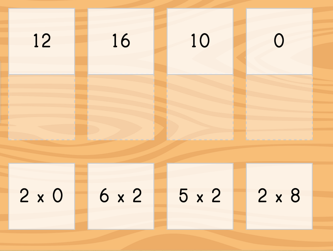 Multiply By 2 Game Matching