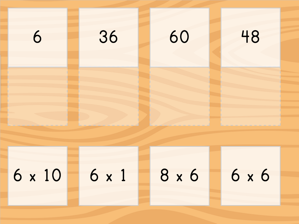 Multiply By 6 Matching