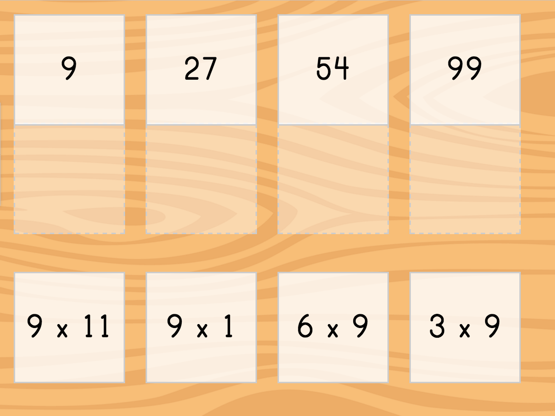 Multiply By 9 Game Matching