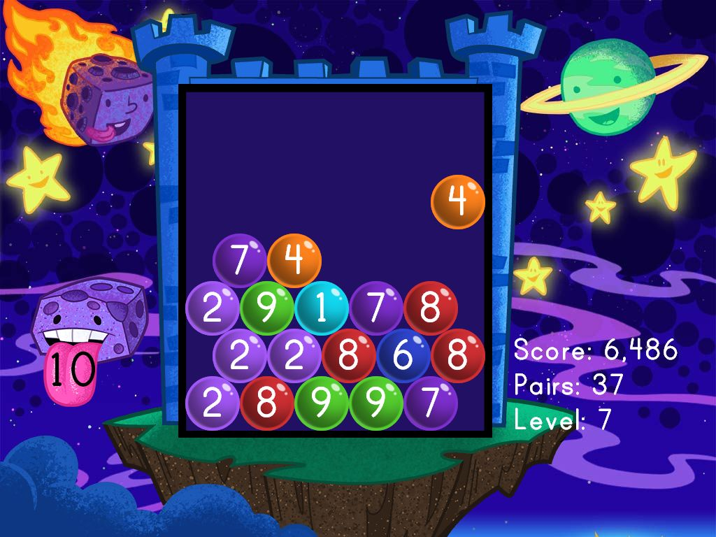Number Pairs Bubble Buster