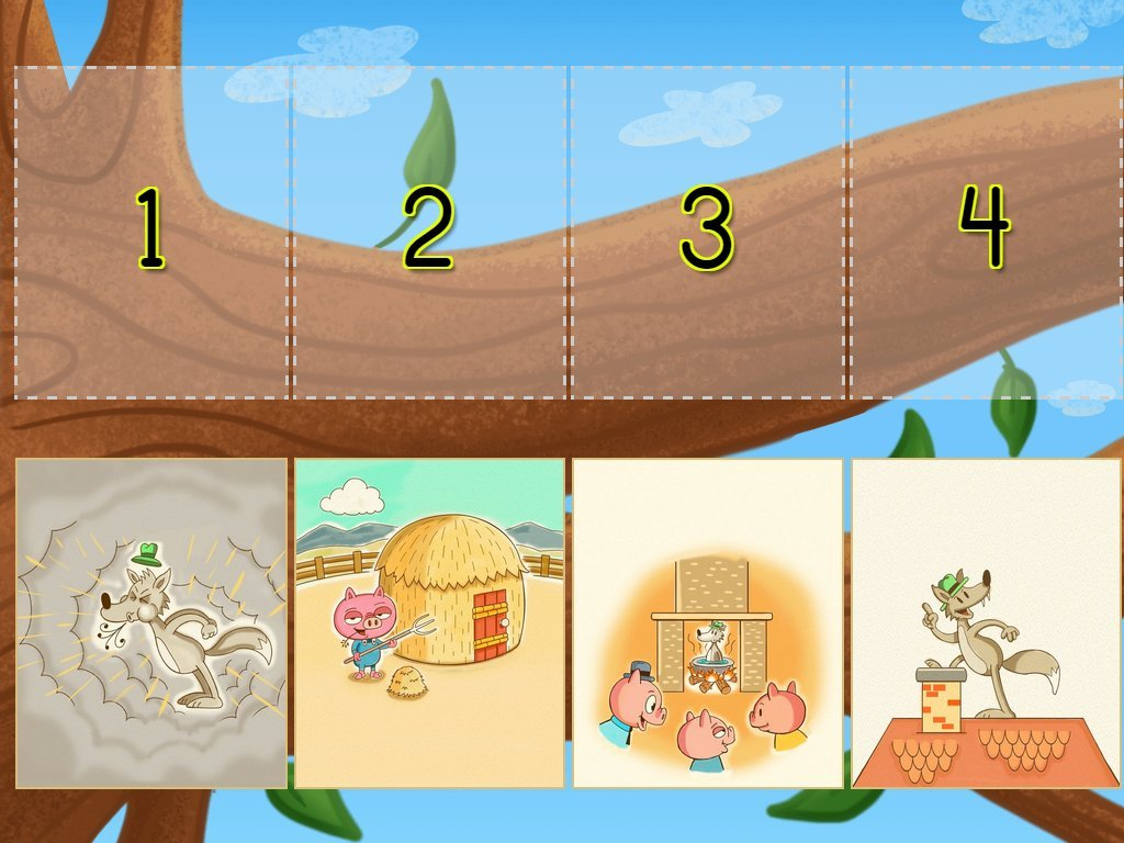 Sequencing The Three Little Pigs Game