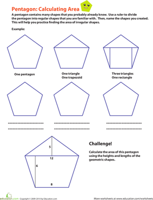 Calculating The Area Of A Pentagon