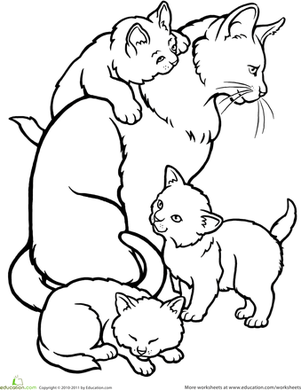 coloring pages kids kittens cooloring com