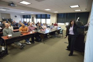 Roanoke Higher Education Center, Pamplin College of Businees, Professional Master of Business Administration, PMBA, graduate students, classroom, Donna Wertalik, Instructor and Career Advisor, Marketing