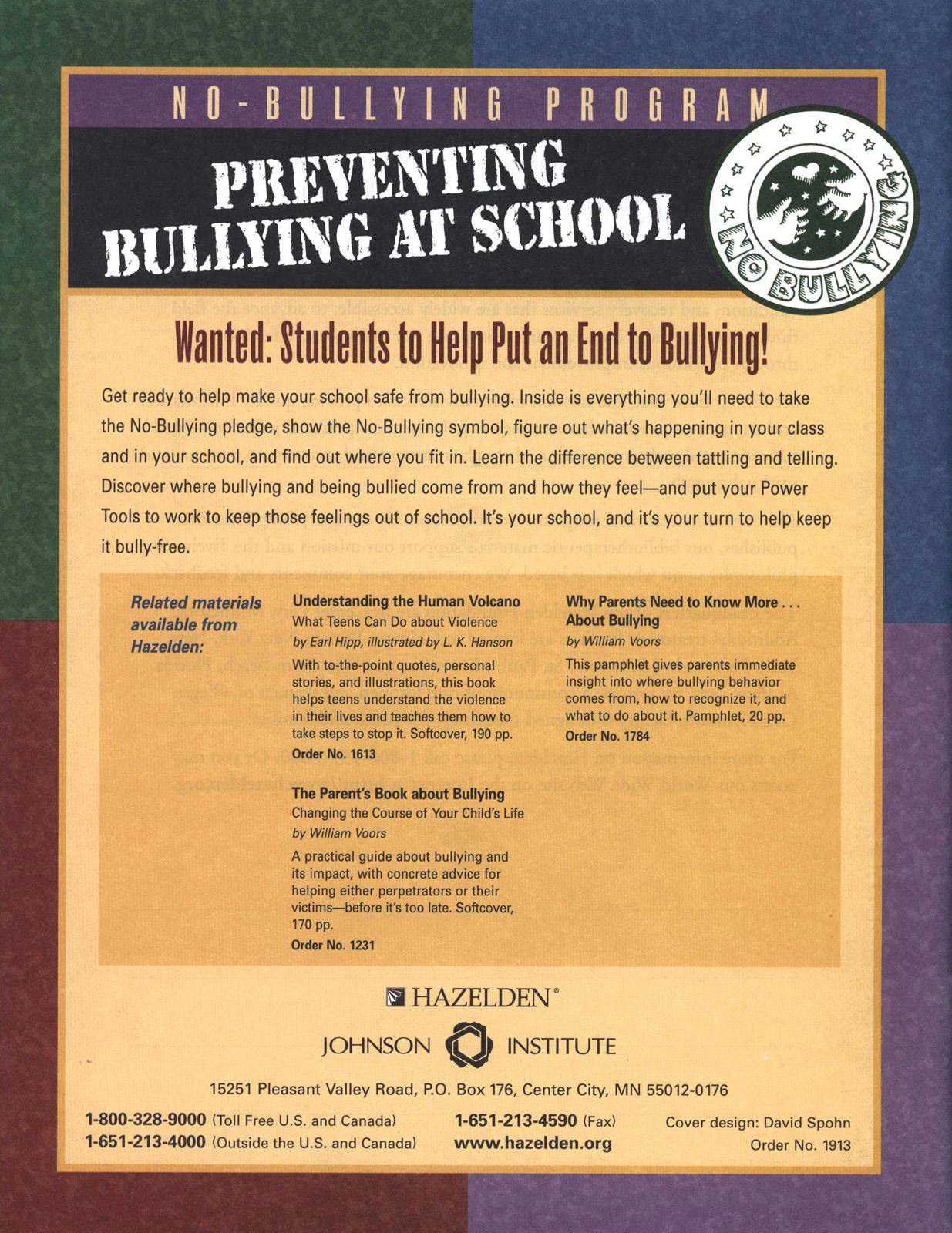 No Bullying Student S Workbooks Grades 4 And 5