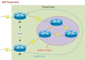 BGP - Transit Area example