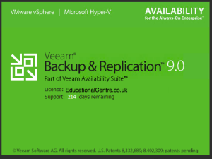 31 - Veeam Backup and Replication v9 spash loading screen