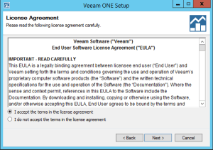 37 - Veeam ONE EULA Acceptance