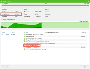 Veeam and Nimble Storage Integration - Backing up from a snapshot - Backup Job Session 01