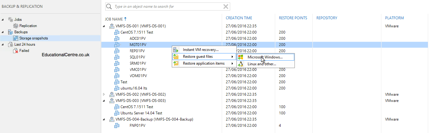 First look at Veeam 9 5 & Nimble Storage Integration – Part