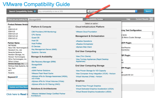 VMware Compatability guide what are you looking for