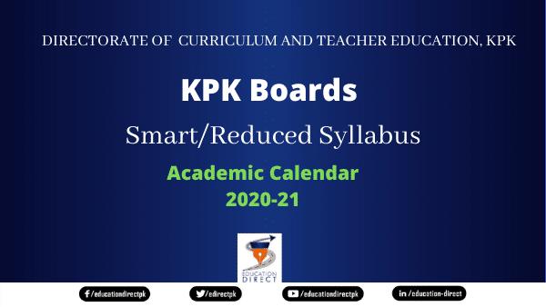 KPK Boards Smart Syllabus 2020