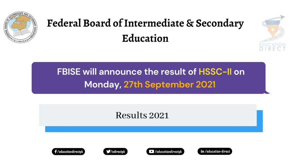 FBISE Inter Result 2021