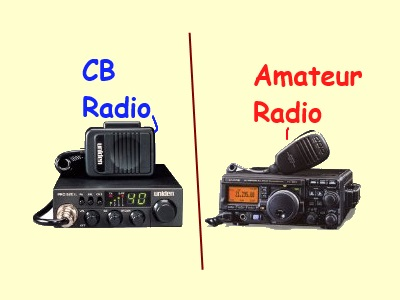 Amateur Radio Requires A License From The Fcc To Transmit But Cb Does Not Cb Users Can Use On The Air Pseudonyms Handles Like The Bandit From The